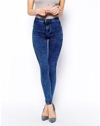 Blue Acid Wash Skinny Jeans