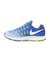 Nike Air Zoom Pegasus 33 Neutral Running Shoes Medium Bluewhitealuminumdeep Nightvoltblack