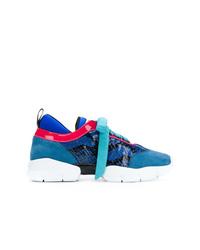 Emilio Pucci Colour Block Lace Up Sneakers
