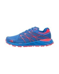The North Face Ultra Endurance Trail Running Shoes Blue Quartzrocket Red
