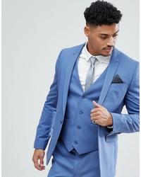 ASOS DESIGN Asos Skinny Suit Jacket In Cornflour Blue