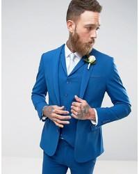 ASOS DESIGN Asos Super Skinny Fit Suit Jacket In Blue