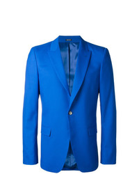 Alexander McQueen One Button Blazer Blue