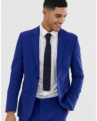 Burton Menswear Skinny Fit Suit Jacket In Blue