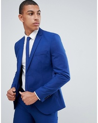 Selected Homme Skinny Suit Jacket In Blue With Stretch