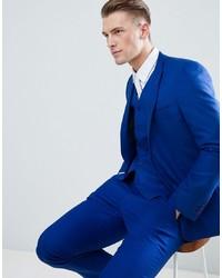 ASOS DESIGN Skinny Suit Jacket In Royal Blue