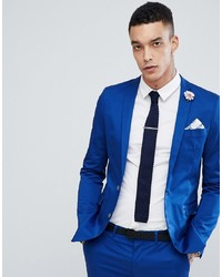 Devils Advocate Super Skinny Fit Plain Suit Jacket