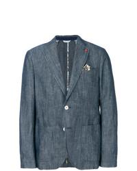 Manuel Ritz Textured Casual Blazer