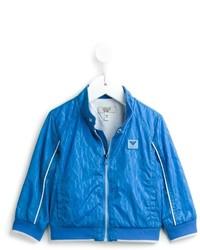 Armani Junior All Over Logo Bomber Jacket