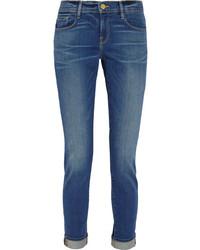 Frame Le Garcon Slim Boyfriend Jeans Mid Denim