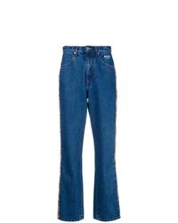 MSGM Snake Stripe Jeans
