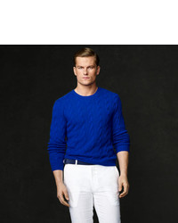 Blue Cable Sweater