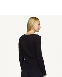 Ralph Lauren Black Label Cable Knit Cashmere Sweater