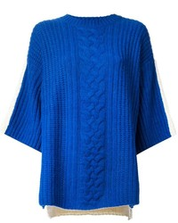 J Js Lee Contrasting Mix Knit Sweater