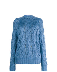 Prada Open Cable Knit Jumper