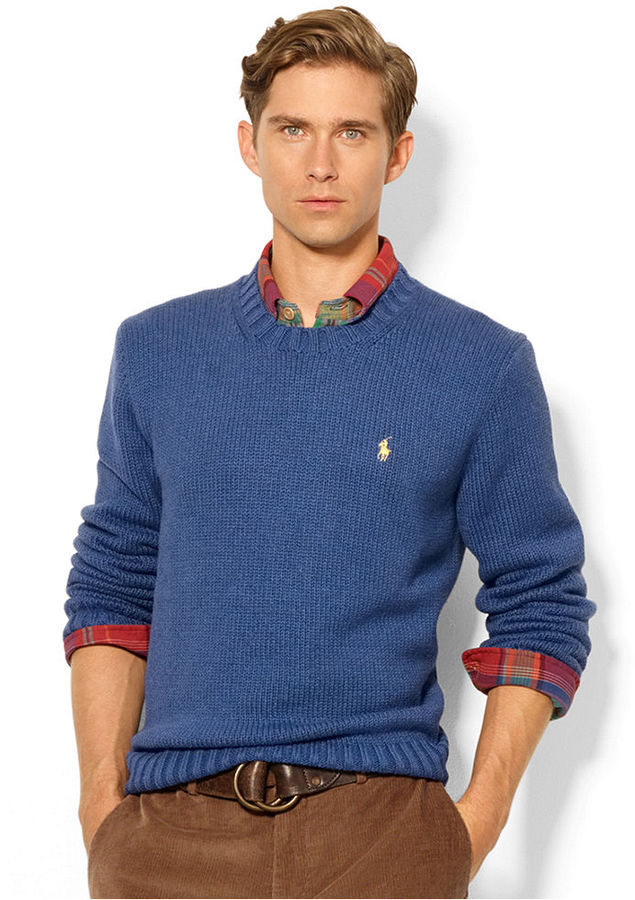 Polo Ralph Lauren Sweater Crew Neck Cotton Pullover | Where to buy ...