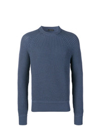 Prada Ribbed Knit Sweater
