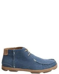 Blue Canvas Desert Boots