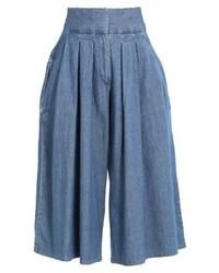 WÅVEN Silja Denim Shorts Mid Blue