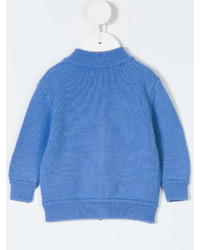 Cashmirino Zip Front Knitted Cardigan