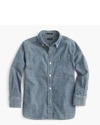 Blue Chambray Long Sleeve Shirt