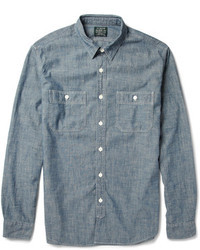 Blue Chambray Long Sleeve Shirt