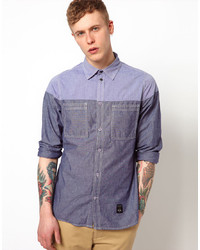 Trainerspotter Shirt Long Sleeve Chambray Split