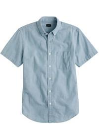 Blue Chambray Short Sleeve Shirt