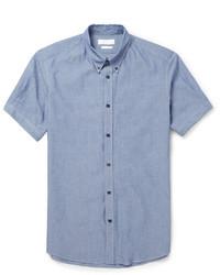 Alexander McQueen Slim Fit Cotton Chambray Shirt