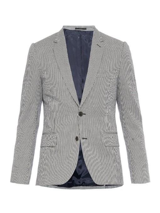 2740f2e83d6f ... Blue Check Cotton Blazers Paul Smith London Soho Check Print Stretch Cotton  Blazer