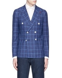 Blue Check Double Breasted Blazer
