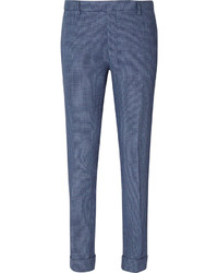 Blue Check Dress Pants