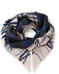 Golden Goose Deluxe Brand Check Print Scarf