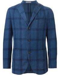 Blue Check Wool Blazer