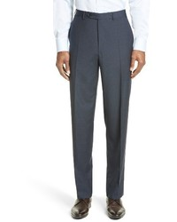 Flat front check wool trousers medium 1161630
