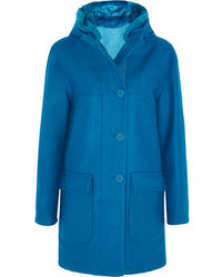 Richard Nicoll Faux Fur Trimmed Hooded Wool Blend Coat