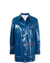 Sonia Rykiel Glossy Topstitch Coat