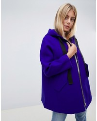 ASOS DESIGN Hooded Swing Coat