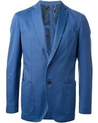 Blue Cotton Blazer