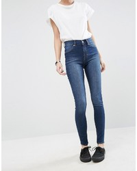 Spray on high waist organic cotton skinny jeans medium 959353