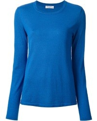 Blue Crew-neck Sweater