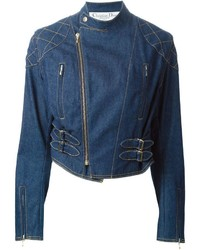 Vintage denim biker jacket medium 454755