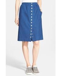 A.P.C. Front Button Denim Skirt