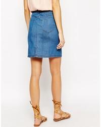 de5f4a261 Vero Moda Front Button Up Denim Skirt, £31 | Asos | Lookastic UK