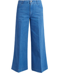 Stella McCartney High Waisted Denim Culottes