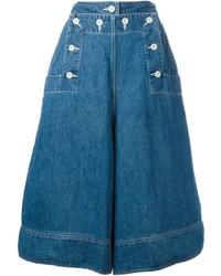 Loose fit denim culottes medium 453877