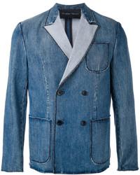 Christian Pellizzari Denim Double Breasted Jacket