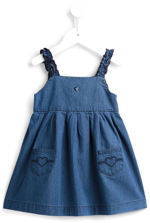 Armani Junior Denim Heart Pocket Dress