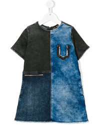 Diesel Kids Denim Patchwork Dress