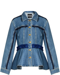 Frill trimmed denim jacket medium 1156683